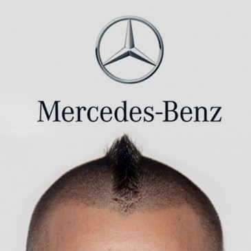 Imagen cabeza David Muñoz logo Mercedes Benz