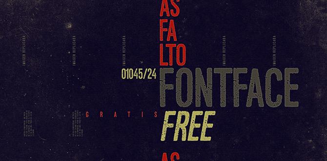 Imagen tipografía  Asfalto.