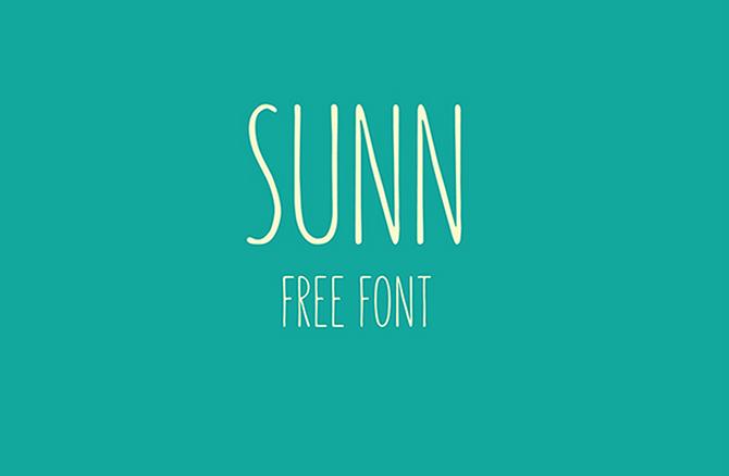 Imagen tipografía Sunn