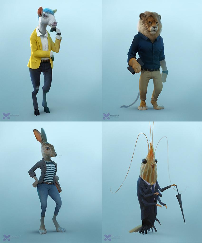 personajes-slack-Max-Kostenko-creacion-animacion