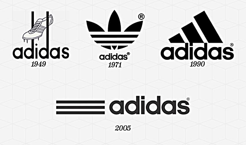 evolucion-adidas-logotipo
