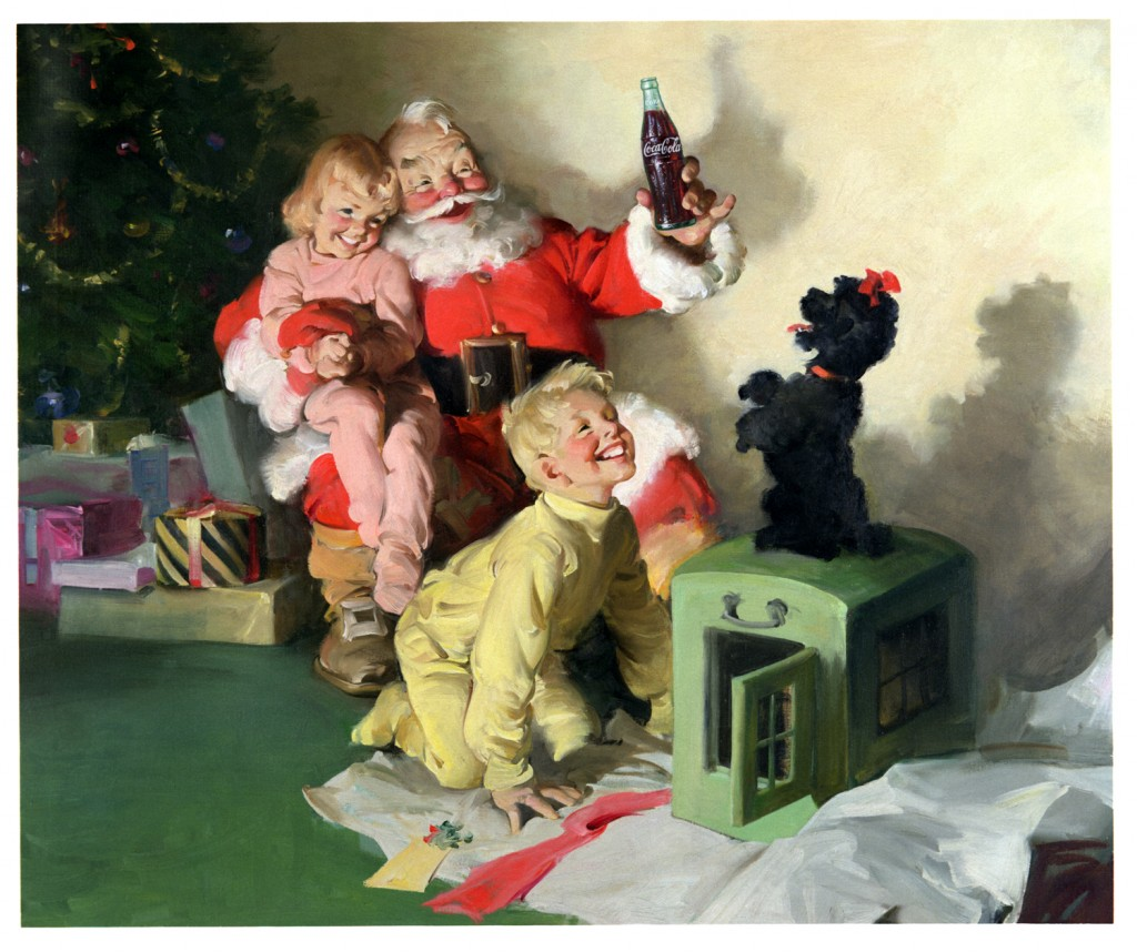 niños 1964 Papa Noel Coca-Cola