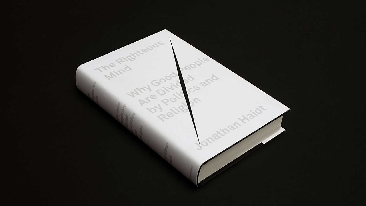 Imagen: Sagmeister & Walsh | Proyecto: The Righteous Mind Cover