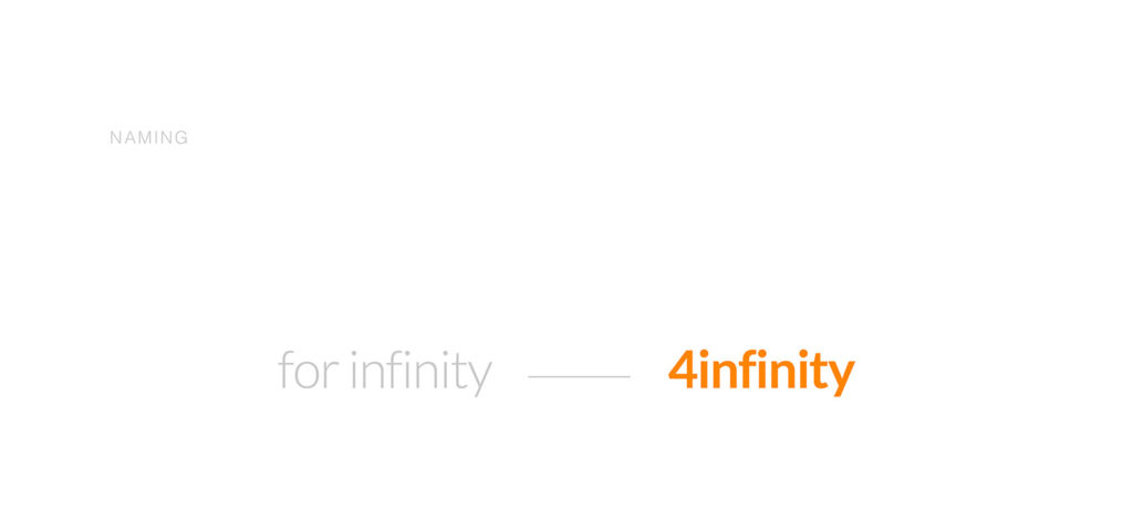 4infinity,Naming, Identidad Visual y diseño web.