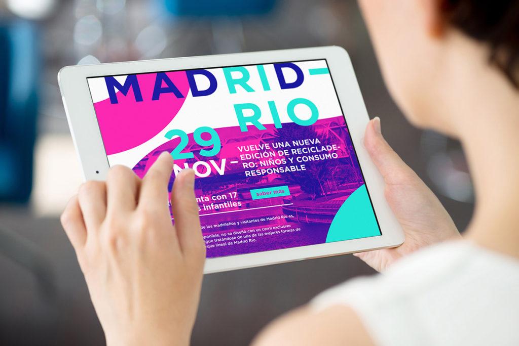 MADRID-RIO. Diseño de Imagen Corporativa,Diseño de Logotipo.