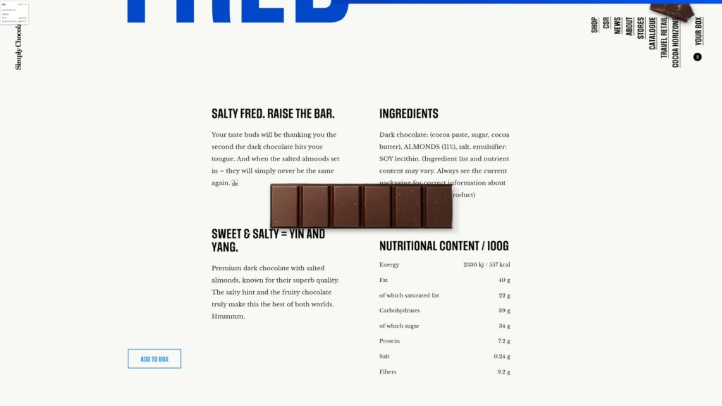 Dsieño Web – Simply Chocolate