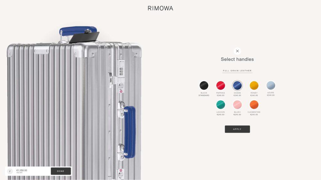 Diseño Web – Rimowa