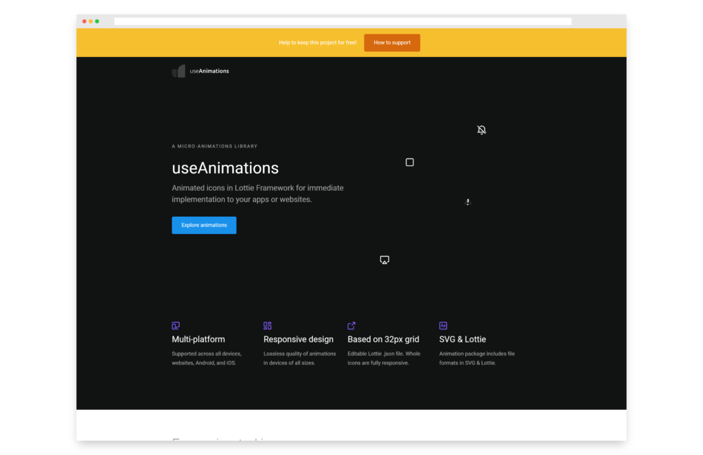 useAnimations